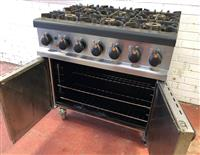 Lincat 6 burner dual fuel range reconditioned